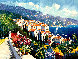 Mediterranean Suite: Eze Village and Mediterranean View 1993 Limited Edition Print by Kerry Hallam - 0