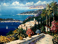 Mediterranean Suite: Eze Village and Mediterranean View 1993 Limited Edition Print by Kerry Hallam - 4