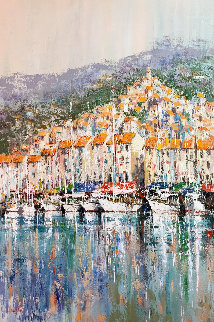 Cote D'azure 1998 72x48 Super Huge Original Painting - Kerry Hallam