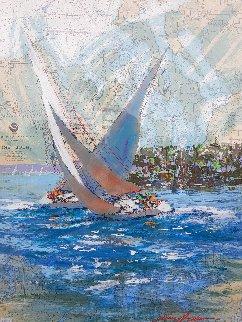 Puget Sound Original 48x36 Nautical Chart Works on Paper (not prints) - Kerry Hallam