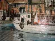 Untitled Harbor 16x12 Original Painting by Kerry Hallam - 3