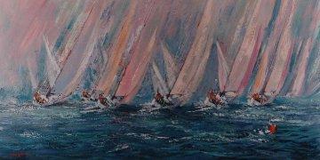 Pastel Regatta 1998 48x72 Original Painting by Kerry Hallam
