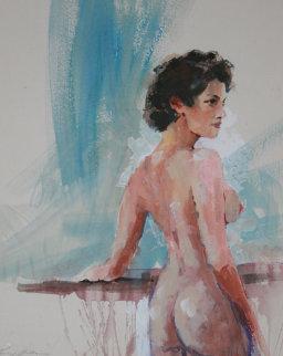 Rebecca Watercolor 2009 35x30 Watercolor - Kerry Hallam