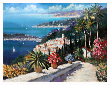 Eze Village Limited Edition Print by Kerry Hallam