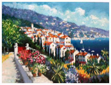 Mediterranean View 1995 Limited Edition Print by Kerry Hallam