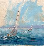 San Clemente Island Nautical Chart 39x41 Original Painting - Kerry Hallam