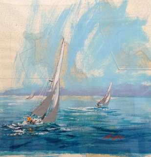 San Clemente Island Nautical Chart 39x41 Original Painting - Kerry Hallam