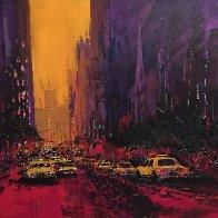 New York Evening 2010 30x36 Original Painting by Kerry Hallam - 0