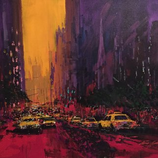 New York Evening 2010 30x36 Original Painting by Kerry Hallam