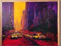 New York Evening 2010 30x36 Original Painting by Kerry Hallam - 1