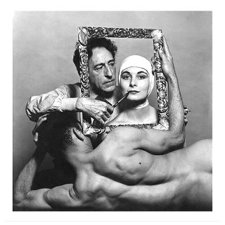 Jean Cocteau With Actress Ricki Soma And Dancer Leo Coleman, New York City, USA Limited Edition Print - Philippe Halsman