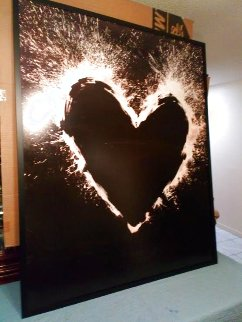 Heart 2000  Unique on Aluminum 2000 55x44  COA Woodbury House London Limited Edition Print - Richard Hambleton