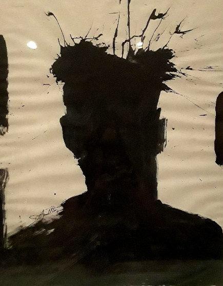 Portrait of Basquiat 1980 27x22 Original Painting by Richard Hambleton