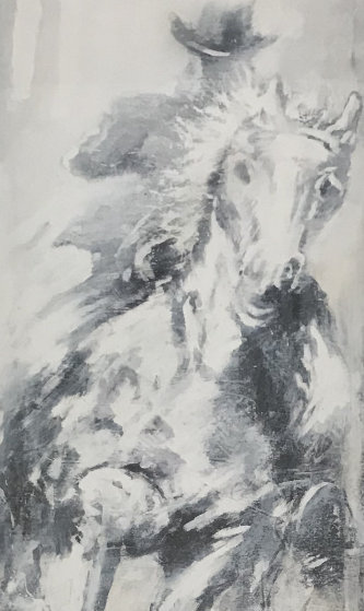 Horse And Rider 42x26 Limited Edition Print by Richard Hambleton