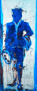 Standing Shadow With Blue Background Limited Edition Print - Richard Hambleton
