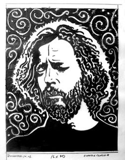 Eric Clapton 1996 20x16 Drawing by John Van Hamersveld
