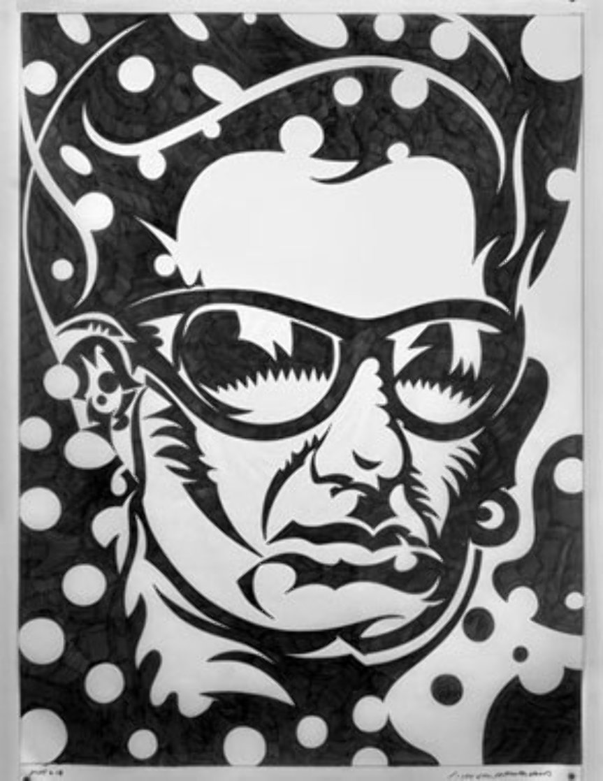 Bono 2008 45x35 Drawing by John Van Hamersveld