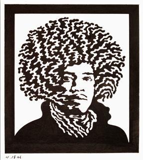 Jimi Hendrix Drawing 2006 Drawing - John Van Hamersveld