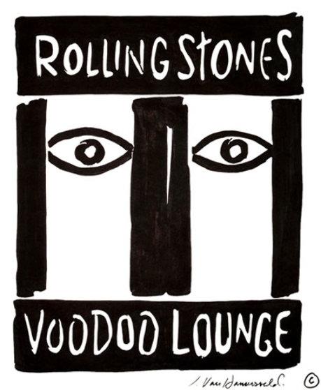 Rolling Stones: Voodoo Lounge 1993 Drawing by John Van Hamersveld