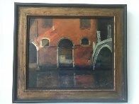 Venetian Street Scene 1963 28x24 Original Painting by Albert Handell - 1