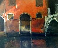 Venetian Street Scene 1963 28x24 Original Painting by Albert Handell - 0