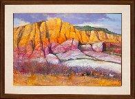 Abiquiu 1987 32x44 Original Painting by Albert Handell - 1