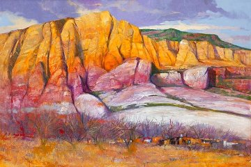 Abiquiu 1987 32x44 Super Huge Original Painting - Albert Handell