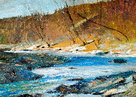 Woodstock Stream 15x19 Original Painting by Albert Handell - 0