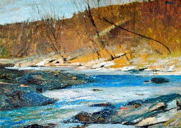 Woodstock Stream 15x19 Original Painting - Albert Handell