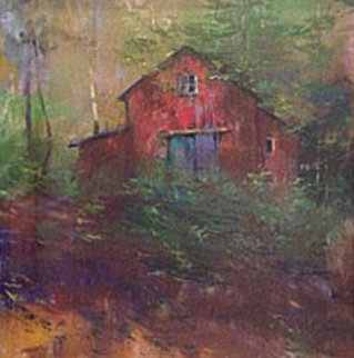 Upstate Barn 14x14 Original Painting - Albert Handell