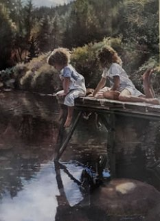 Watching And Reflecting 1991 Limited Edition Print by Steve Hanks