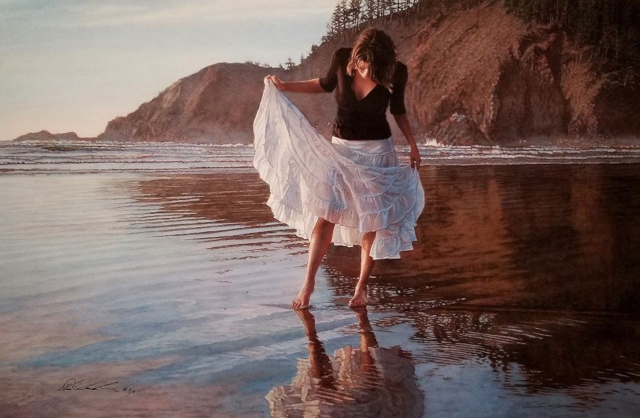 Reflecting on Indian Beach AP 2009 Limited Edition Print by Steve Hanks