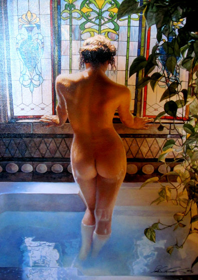 Morning Bath AP 2007 Limited Edition Print by Steve Hanks