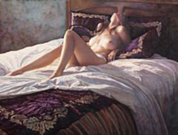 In the Soft Comfort of Her Bed 2013  Limited Edition Print - Steve Hanks