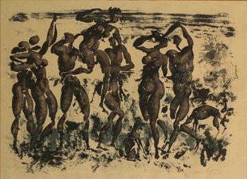 Bacchanal in Moisson (Die Ernte) 1954 Limited Edition Print - Hans Erni