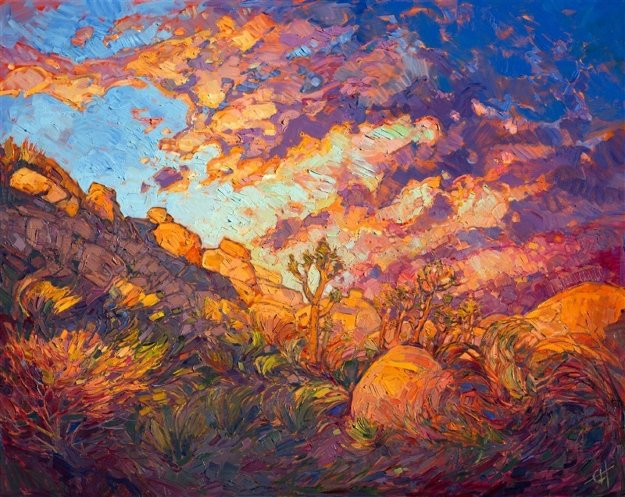 Joshua Aflame 2016 40x50 Original Painting by Erin Hanson