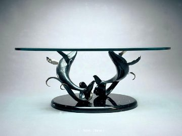 Making Waves Bronze  Sculpture Coffee Table 1998 Sculpture - Scott Hanson