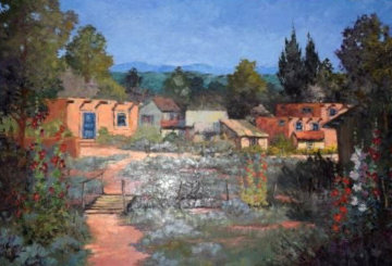 Northern New Mexico 35x46 Original Painting - Hans Ressdorf
