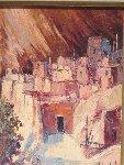Pueblo Village 23x20 Original Painting - Hans Ressdorf