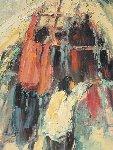 Indian Teepee 33x29 Original Painting - Hans Ressdorf