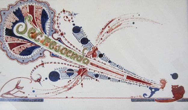Untiteld Set of 5 Ink Drawings 1950 Drawing by Paul-Karl Wilhelm Count von Hardenberg