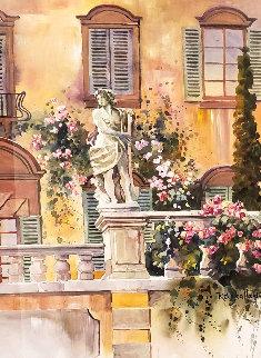 Tuscan Veranda II 28x37 Watercolor - Rebecca Hardin