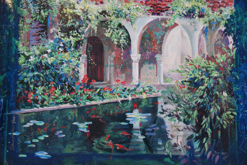 Mediterranean Villa 1995  Limited Edition Print by Rebecca Hardin