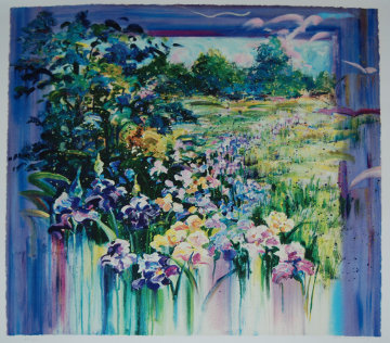 Iris Meadow PP 1977  Limited Edition Print by Rebecca Hardin