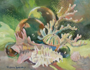 Treasures of the Sea 2013 22x28 Original Painting by Rebecca Hardin