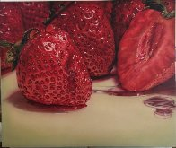 Strawberries 1979 55x64 Super Huge Original Painting by Ray Hare - 1