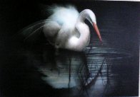 Untitled (Egret) 2003 56x80  Huge Original Painting by Ray Hare - 1