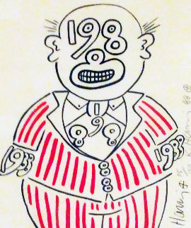 1988 Man HS Limited Edition Print - Keith Haring