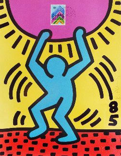 International Youth Year 1985 Limited Edition Print by Keith Haring