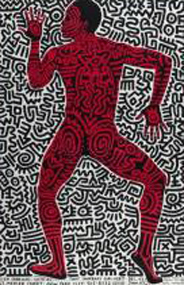 INTO 84  (Tony Shafrazi Poster) 1984 Other by Keith Haring